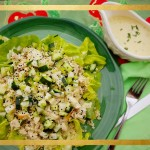 Chicken Salad with Asian Pear & Tangy Wasabi Buttermilk Dressing