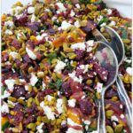 Roasted Root Vegetable Salad with Cranberry Ginger Dressing