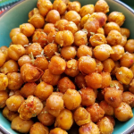A bowl of Moroccan Spiced Roasted Chickpeas