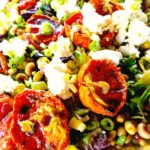 Oven Dried Tomato Salad with Roasted Corn & Pink Eye Peas