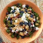 Blueberry Kale & Walnut Salad with Blueberry Balsamic Dressing