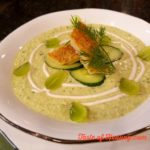 White Grape & Cucumber Gazpacho with Hickory Smoked Trout