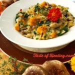 Shiitake Mushroom, Roasted Butternut & Kale Risotto