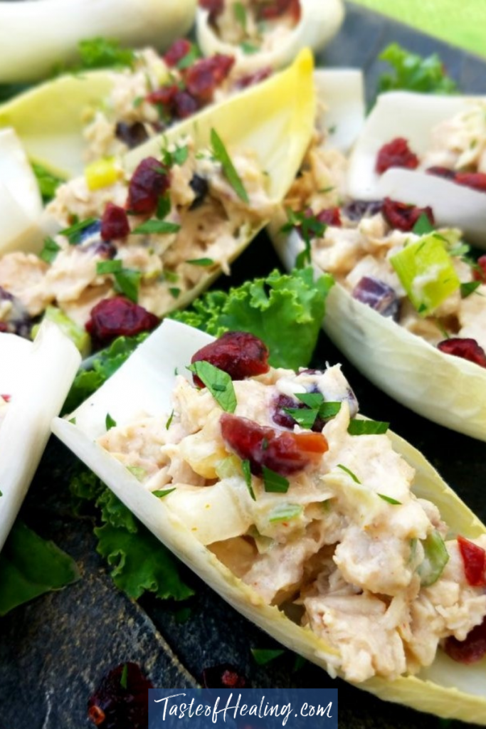 Curried Roast Chicken & Apple Salad with Cranberry