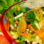 A bowl of Grapefruit, Fennel & Apple Detox Salad with Bitter Greens & Citrus Vinaigrette
