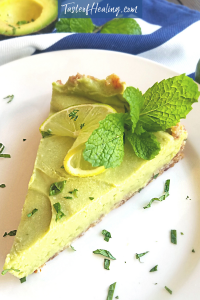 A slice of mouth-watering Avocado Key Lime Pie