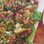 A Plate of Roast Grape Butternut Salad