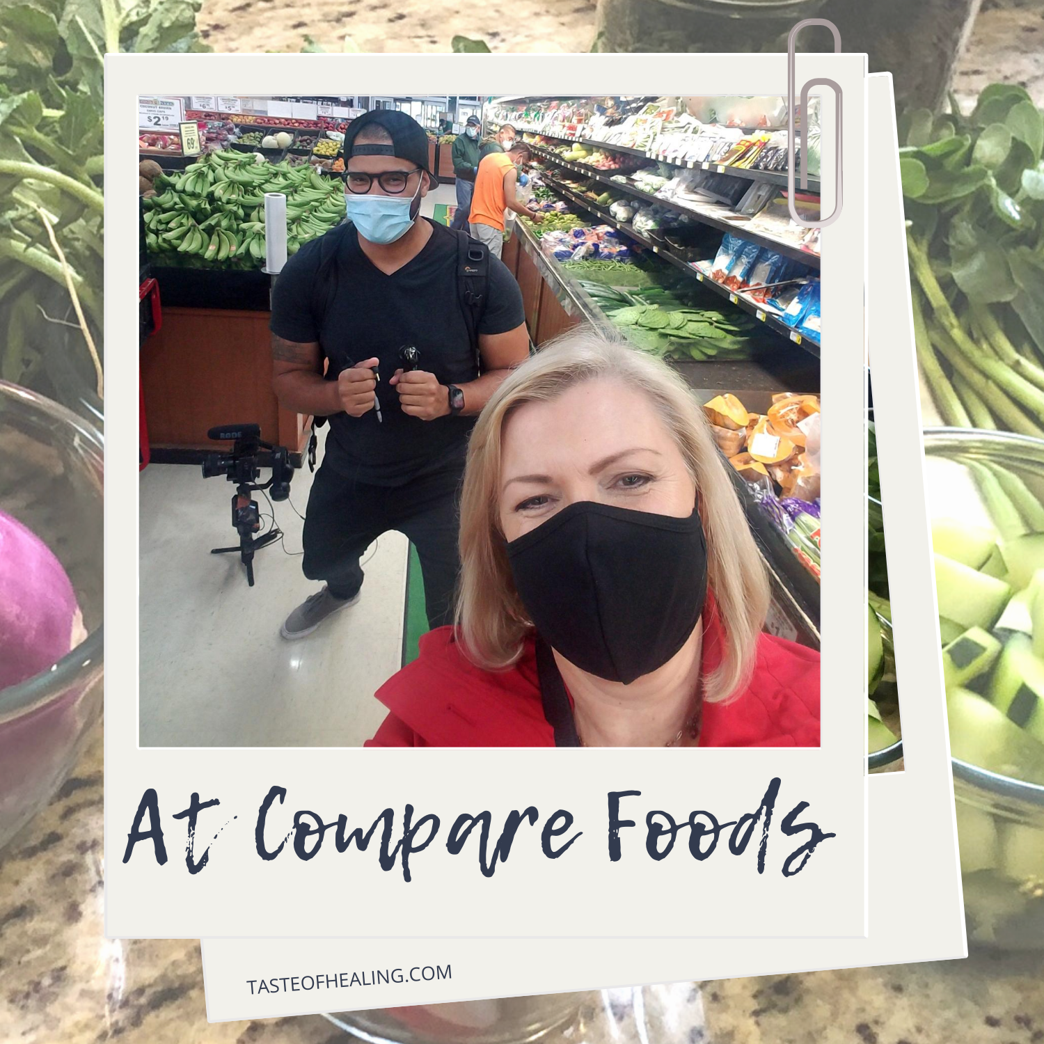 Carol shopping at Compare Foods in Charlotte NC